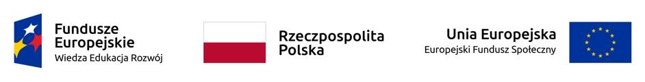 Logo funduszy europejskich i flaga Polski